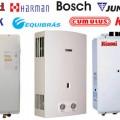 Modelos e marcas de aquecedores à gás disponíveis no Brasil. Foto: reprodução