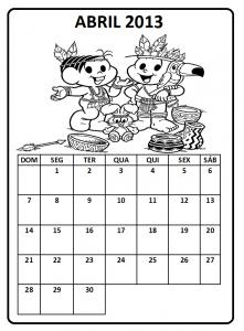 Calendário Abril 2013 para Imprimir 4