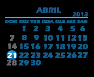 Calendário Abril 2013 para Imprimir 3