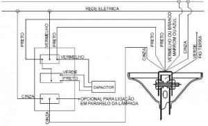 Instalar ventilador de teto esquema 2