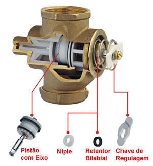 Reparo válvula de descarga antiga 2