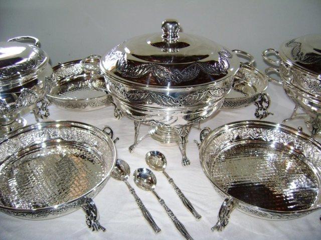 Bicarbonato para limpar prata for Utensilios para servir comida