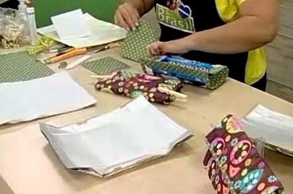 Bolsa Feita Com Caixa De Leite E Tecido : Bolsas com caixa de leite passo a lindos modelos