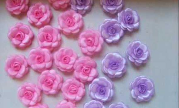 Flor de fita como fazer 13