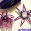 Flor de fita como fazer 14