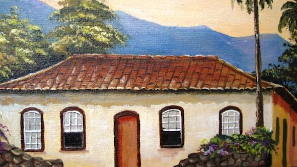 Pintura de fazenda em tecido1
