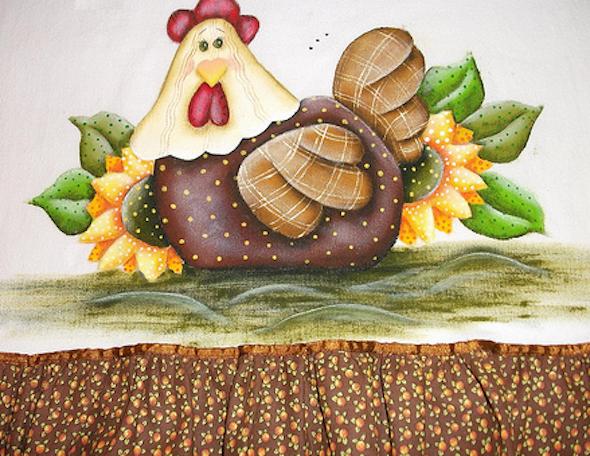 Pintura de fazenda em tecido7