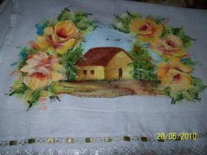 Pintura fazenda arte em tecido 2