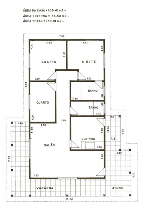 modelos de plantas de casas pequenas
