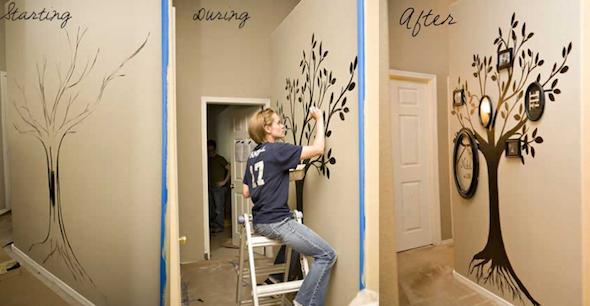 Como Pintar 225 Rvores Em Paredes E 21 Modelos