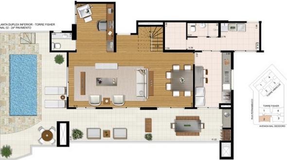 Plantas De Casas Com Piscina 32 Modelos Para Constru O