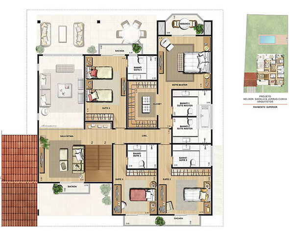 32 modelos de plantas de casas modernas para tirar id ias for Casas modernas pequenas de una planta
