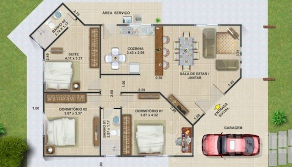 32 modelos de plantas de casas modernas para tirar id ias - Distribuciones de casas modernas ...