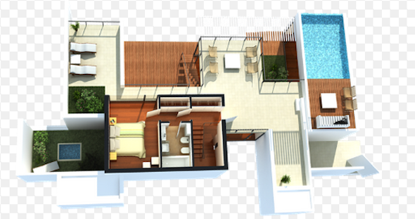 32 modelos de plantas de casas modernas para tirar id ias for Plantas de casas modernas con piscina