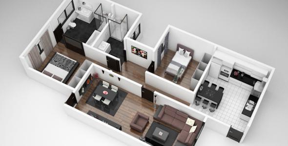plantas+de+casas+modernas+2+3+dormi24