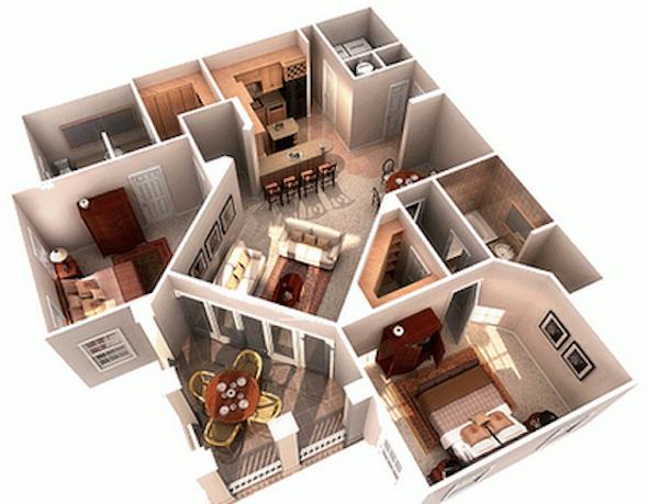 32 modelos de plantas de casas modernas para tirar id ias for Modelos de casas minimalistas de dos plantas