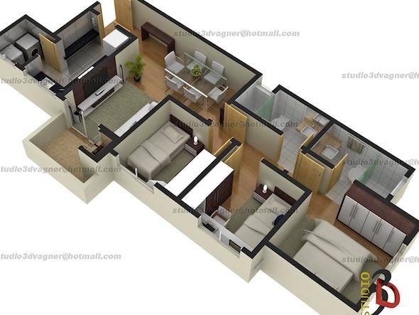 32 modelos de plantas de casas modernas para tirar id ias for Casa moderna 2 andares 3 quartos