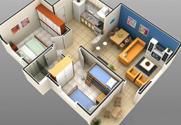 32 modelos de plantas de casas modernas para tirar id ias - Crear casas 3d ...