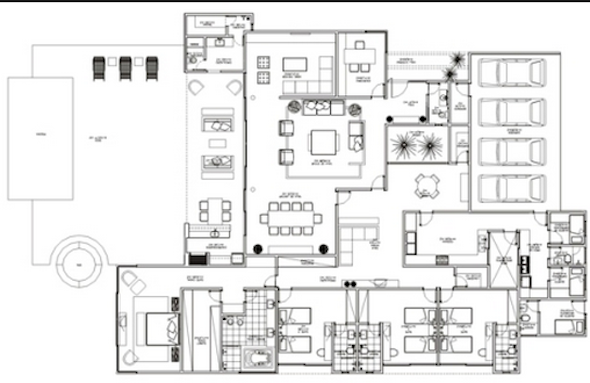 32 modelos de plantas de casas modernas para tirar id ias for Casas contemporaneas de una planta