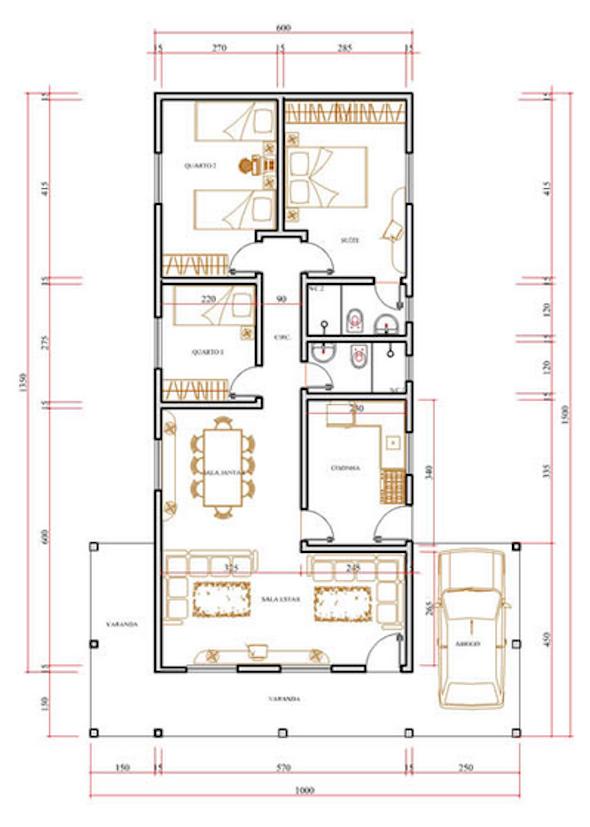 Plantas de casas populares 27 modelos de projetos for Casa popular