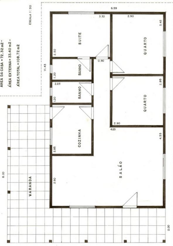Plantas de casas populares 27 modelos de projetos for Precio reforma completa piso 70 metros