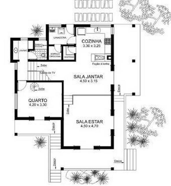 Plantas de casas populares 27 modelos de projetos for Plantas arquitectonicas de casas