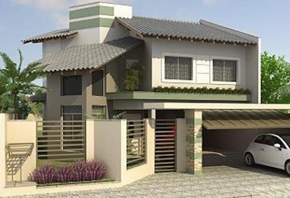 3-Frente de casas com muros exemplos bonitos