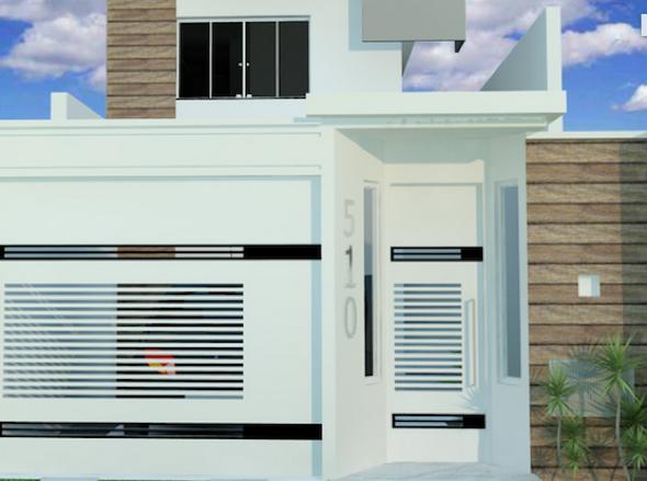 4-Frente de casas com muros exemplos bonitos