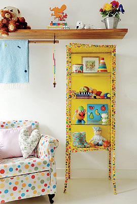 Móveis coloridos para sala