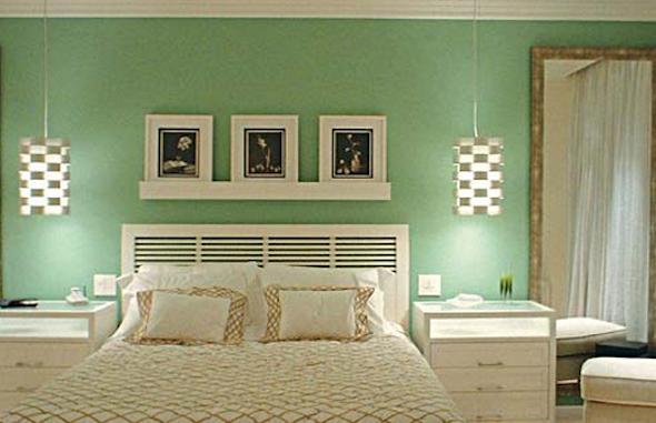 Decoracao De Quarto Simples E Barato ~   simples para quarto de casal usando tons de cores b?sicos e claros