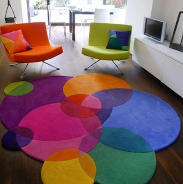 tapete colorido na decoracao8