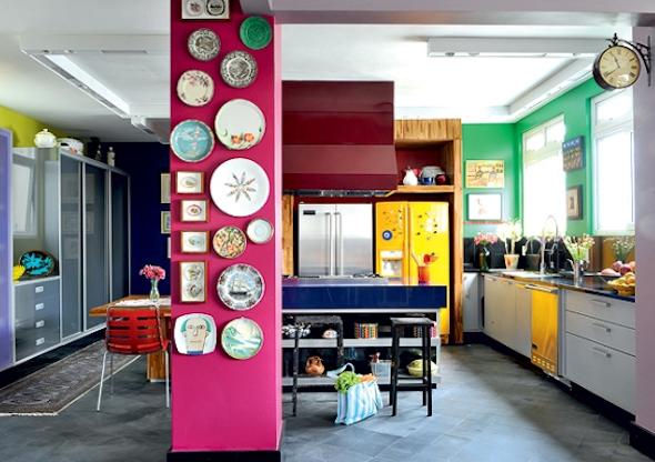 cozinhas multicoloridas modelos