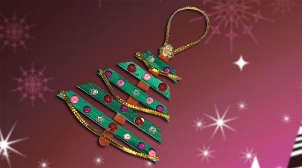 Decoração de Natal com materiais reciclados 002