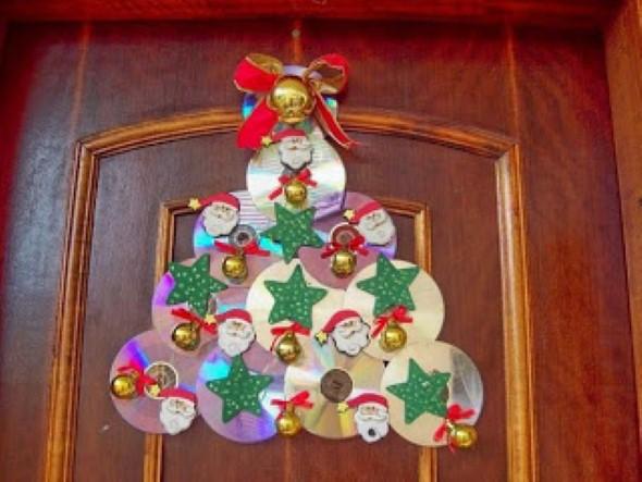Decoração de Natal com materiais reciclados 004