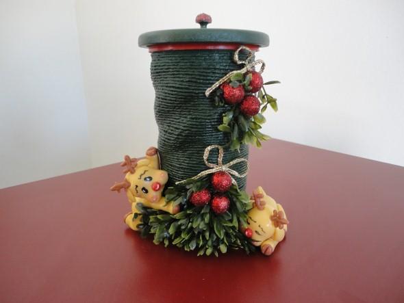 Decoração de Natal com materiais reciclados 005