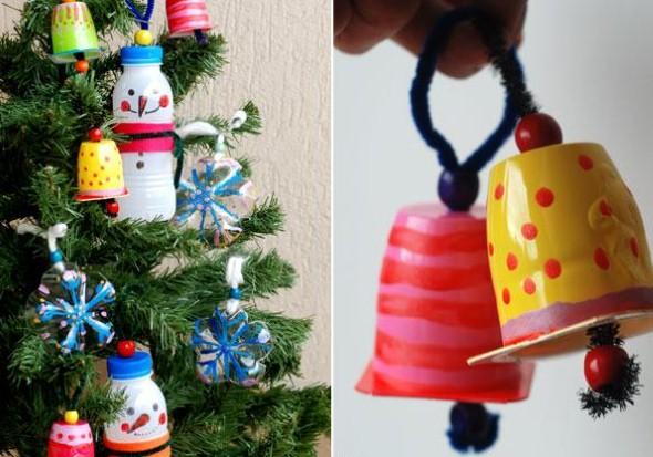 Decoração de Natal com materiais reciclados 011