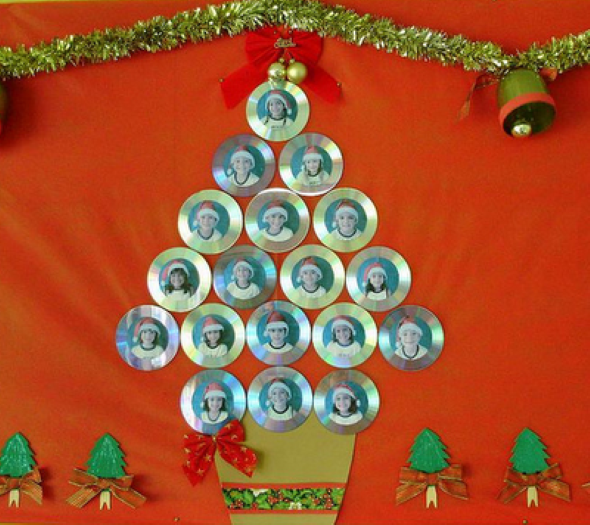 Decoração de Natal com materiais reciclados 014