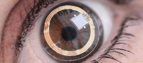 lente de contato do google
