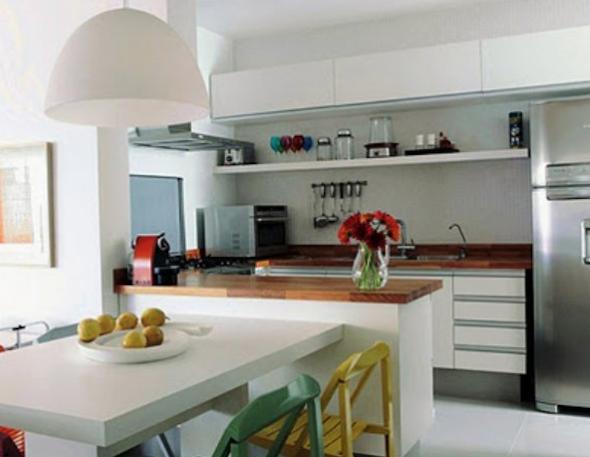 Bancadas de madeira na cozinha4