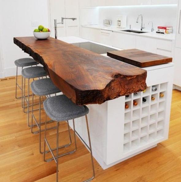 Bancadas de madeira na cozinha6