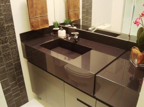 Bancada em porcelanato para cozinha e banheiro 12 fotos e entenda a novidade! # Bancada De Cozinha De Porcelanato