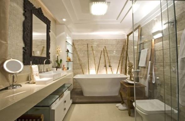 Banheiro contemporâneo 12 modelos e técnicas de decoração -> Decoracao De Banheiro Com Bancada De Granito