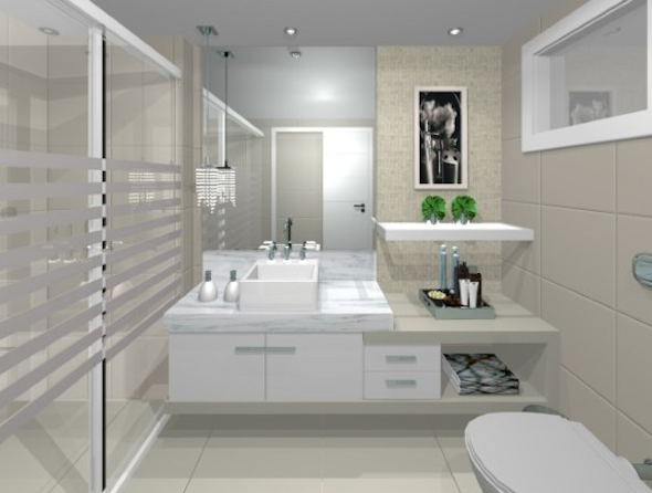 Banheiro contemporâneo 12