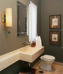 Decorar banheiro de escritório e comercial 002