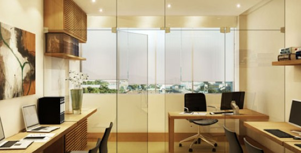 Decorar escritório com estilo moderno 15 modelos e idéias -> Escritorio Decorado Pequeno