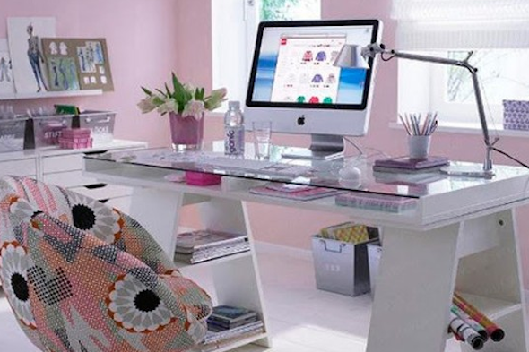 Escritorio moderno para casa cheap escritorio moderno for Decorar despacho profesional