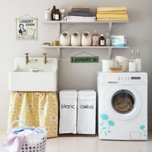 Decorar uma lavanderia retrô 001