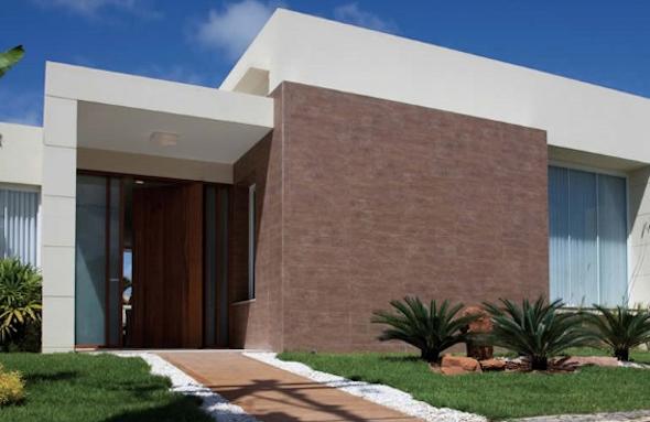 Frente de casas com cer mica 18 modelos e id ias para decorar - Ceramica para fachadas casas ...