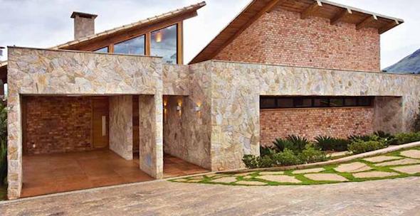 Frente de casas com cerâmica: 18 modelos e idéias para decorar