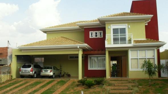frente de casas pintadas em diversas cores 14 modelos e